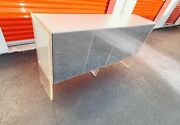 Iconic Mid Century Modern Chrome And Lucite Credenza By Milo Baughman