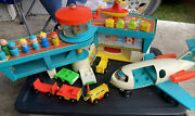Vintage 1972 Fisher Price Play Airport - Jet Plane - Cars - Little People 996