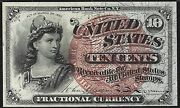 Fr-1259 10c Fourth Issue Fractional Currency - 10 Cent - Graded Pmg 58 Epq