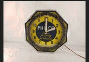 Vintage Philco Radio Tube Famous For Quality The World Over Rotating Neon...