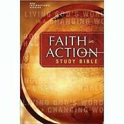 Faith In Action Study Bible World Vision By Zondervan Publishing - Hardcover New