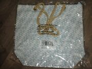 Nwt Tote Bag, Blue And White Shell, Rope Handles, Crabtree And Evelyn