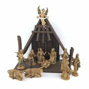 Lot Of 11 Vintage Mixed Fontanini Depose Italy Nativity Scene Figures And Creche