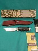 Vintage Gerber Knife Hunter 4.75 S - Ebony Handle W/ Orig. Box And Papers Ex+