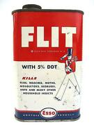 50 Esso Flit Vintage Can Oil Signboard Shell