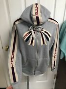 Rare Cotton Logo Cat Track Jacket Hoodie Small Euc Sold Out