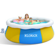 Klandouml Kick 8ft X 30in Easy Set Up Inflatable Swimming Pool W/ Filter Pump And Cover