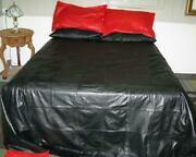 Real Lambskin Soft Leather Bedding Set 2 Pillow Case Set Luxury Finish Bed Sheet