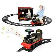 Ride On Train With Track Electric Ride On Toy W/ Ride-on Train + Curved Tracks