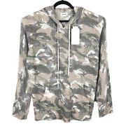 Nwt Zadig And Voltaire Mens Camo 100 Cashmere Pullover Hoodie Size Medium