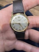 Longines 1920 Vintage14k Gold Womens Watch With Leather Wrist Band