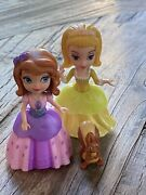 Sofia The First And Amber Doll Talking Castle 3 Pink Purple Dress