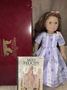 Felicity Pleasant Company American Girl Doll Box Book Tea Gown Shoes Stockings