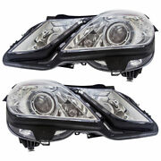 For Mercedes E350 And E550 2010 2011 Pair Oem Hella Headlights Tcp