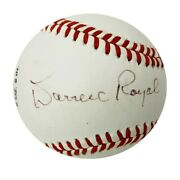 Darrell Royal Autographed Official Babe Ruth League Baseball - Jsa Authentic