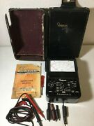 Simpson 260 Series 7 Multimeter W/case Manual And Leads - Ships Free