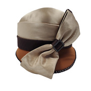 Midnight Velvet Womenand039s Hat With Bow Beads And Feather Accents Vintage Classic