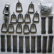 Cabinet Pull Drop Handle Lot Of 12 Gothic Mission Drawer Lt Door Cupboard