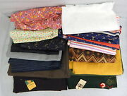 Vintage Fabric Textile Lot Dormeuil Wool Worsted Cloth Crombie Polyester Cotton