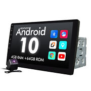 Cam+2 Din 10.1 Octacore Android 10 Car Stereo Gps Lcd Monitor Double Din No Dvd