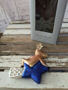 Pottery Barn Comet Glass Reindeer Ornament Xmas Holiday Tree