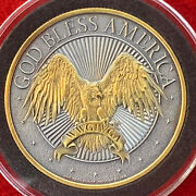 God Bless America Ii 1 Oz .999 Silver Round W/ Antique And 24k Finish Gold By Sfs