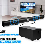 2-in-1 Home Tv Sound Bar W/ Subwoofer Theater Soundbar System Bluetooth Speakers