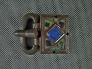 Ancient Visigothic Gold Inlay Jeweled Bronze Buckle 6th Century. A.d. Visigoths