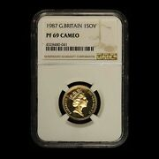 1987 Great Britain Gold Sovereign Ngc Pf69 Cameo - Free Shipping Usa