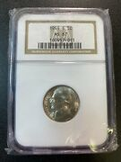 1944 S Jefferson Nickel Ngc Ms-67 - Uncirculated - Silver - Certified Slab - 5c