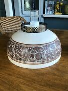 Antique Victorian Glass Hanging Library Parlor Oil Lamp Shade 14 And/or Lamp If
