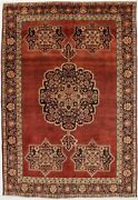 Hand Knotted Semi Antique 7and0395x11 Floral Vintage Area Rug Oriental Decor Carpet