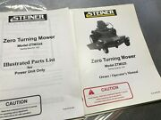 Steiner Ztm325 Mower Power Unit Only Parts List And Owners Operators Manual