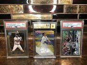 Aaron Judge Gold Refractor 2017 Auto Bowman /50 Bgs + 2 Other Psa Cards