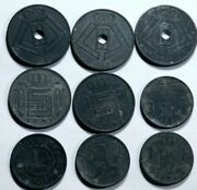 Belgium  11 X Old Belgium Zinc Coins Mostly From 1940s . R9-56-276
