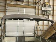 Extra Tall Pontoon Boat Square Tube Bimini Top Kit 9and039x8and039 Greylifetime Warranty