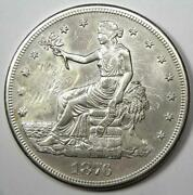 1876-cc Trade Silver Dollar T1 - Au Details Smoothed - Rare Carson City Coin