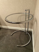 Eileen Gray - E1027 Adjustable Chrome And Glass Accent Side Table