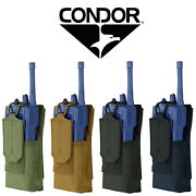 Condor 191223 Molle Pals Tactical Patrol Radio Walkie Talkie Communication Pouch