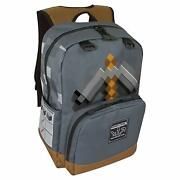 Backpack - Minecraft - Pickaxe Adventure 17 Gray New J7650