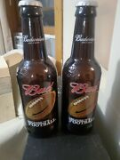 Large Budweiser King Of Beers Jumbo Glass Beer Bottle Coin Bank Football New
