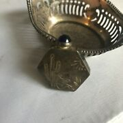 Vintage Mexican Silver Collectibles Perfume Bottle And Mini Basket