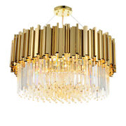 Modern Crystal Chandelier Luxury Contemporary Hanging Light Large Pendant Lamp