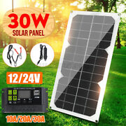 30w 18v Solar Panel Kit Usb Battery Power Charger+10//30a Pwm Solar Controller