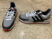 Adidas Run 90s Shoes Grey Two / Core Black / Solar Red Size 11.5