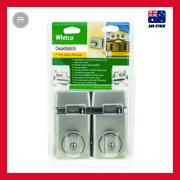 New Whitco Satin Chrome Double Cylinder Deadlatch - Twin Pack