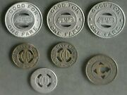 Canton City Bus Tokens A Total Of 7 Tokens.[see Description For Itemized List]
