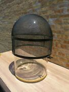 Glass Vacuum Bell Jar 18 X 28 With Gasket And Metal Protective Cage