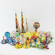 Lot Of 37 Vintage Tin Noisemakers U.s. Kirchhof New Years Eve Party Birthday