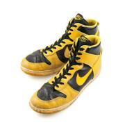 Nike Dunk High Sneakers Black X Yellow Men's Us11 1/2 Made In Korea 80s Vintage